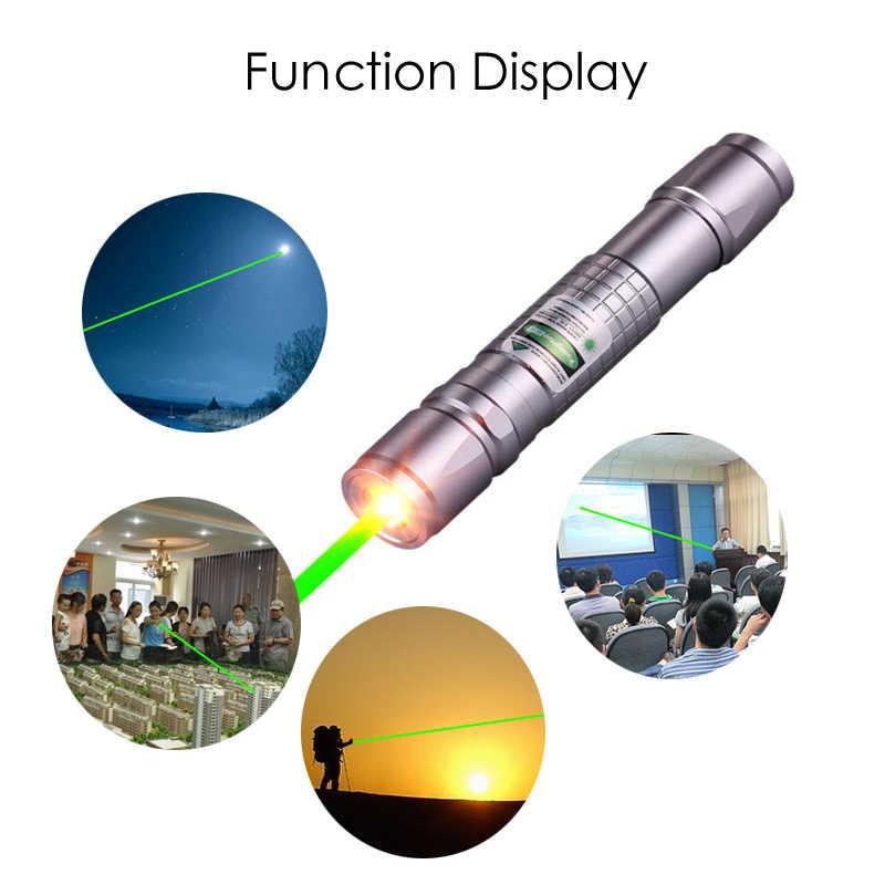 עוצמה ירוק לייזר 303 מצביע 10000 m 5 mW לתלות-סוג חיצוני למרחקים ארוכים לייזר חזק כוכבים ראש שריפת התאמה