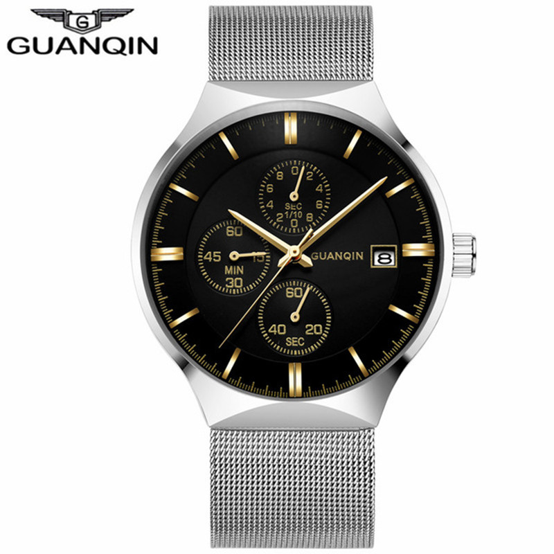 GUANQIN Brand Luxury Watches Men Business Quartz Wa