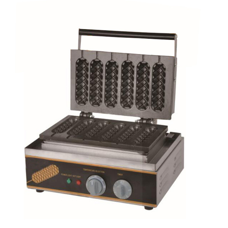 BEIJAMEI Commercial Non-stick 110v 220v Electric 6pcs French Hot Dog Machine Stick Lolly Waffle Maker Making Price 220v 110v 6pcs commercial electric lolly waffle maker machine non stick stainless steel pine shape waffle machine