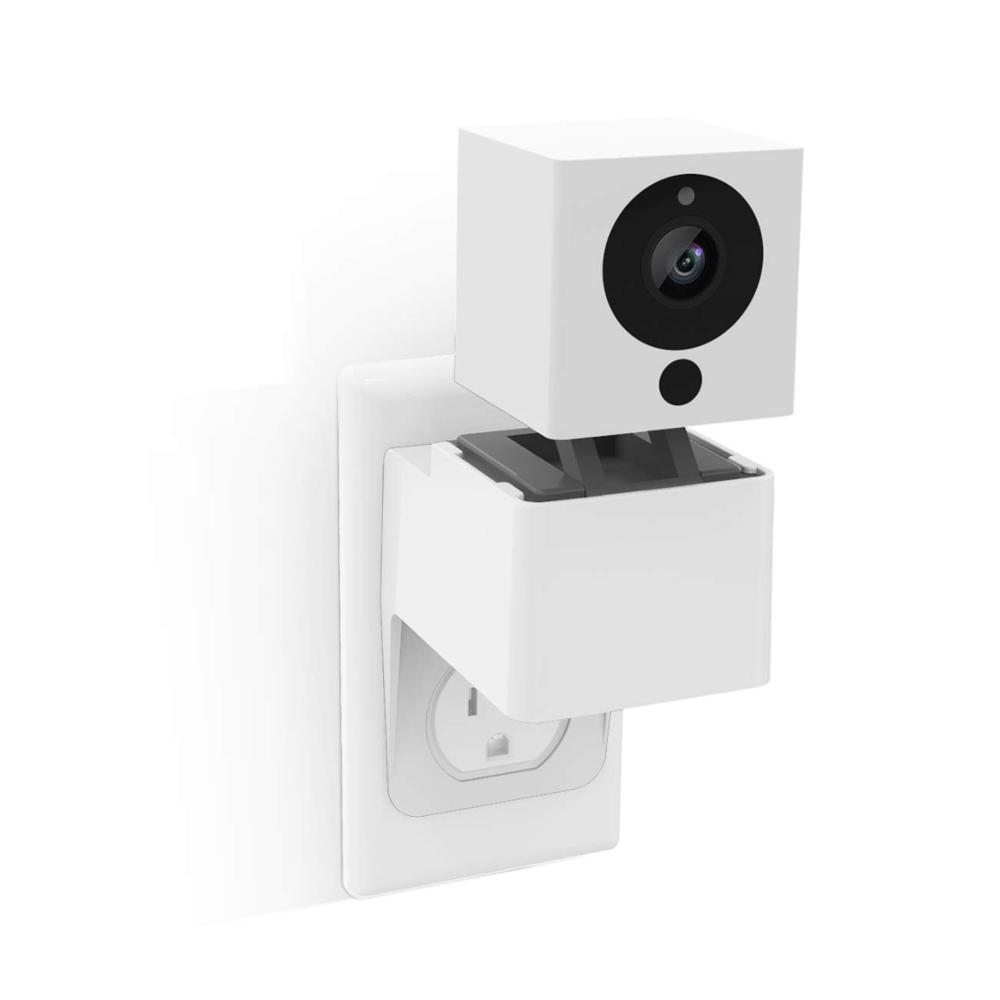 Wyze Cam Outlet Wall Mount, 2019 Upgraded AC Outlet Mount Compatible With Wyze Cam And Wyze Cam V2 1080P - Without Messy Wires