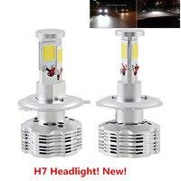 Free Shipping 2Pcs Universal CAR Auto Canbus No Error H7 LED Headlight Kit Bulbs 120W 12000LM