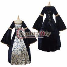 Fait sur commande Adulte Renaissance Robe De Bal Médiéval Robe De Mariée  Femmes Fantaisie Partie Robe D0412 2b3ac9ae9