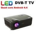 5500 люмен Android 4.4 wi-fi led проектор full hd 3d домашний кинотеатр projetor DVB-T цифрового ТВ смарт мультимедиа proyector бимер