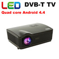 5500 lúmenes Android 4.4 wifi proyector led 3d full hd de cine en casa projetor digital DVB-T TV inteligente multimedia proyector beamer