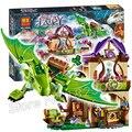 694 unids nuevo el secreto mercado building blocks ladrillo modelo regalos kit elfos playset juguetes compatibles con lego