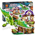 694pcs New The Secret Market Place Building Brick Blocks Model Gifts Kit Playset Toys Compatible With Lego Elves