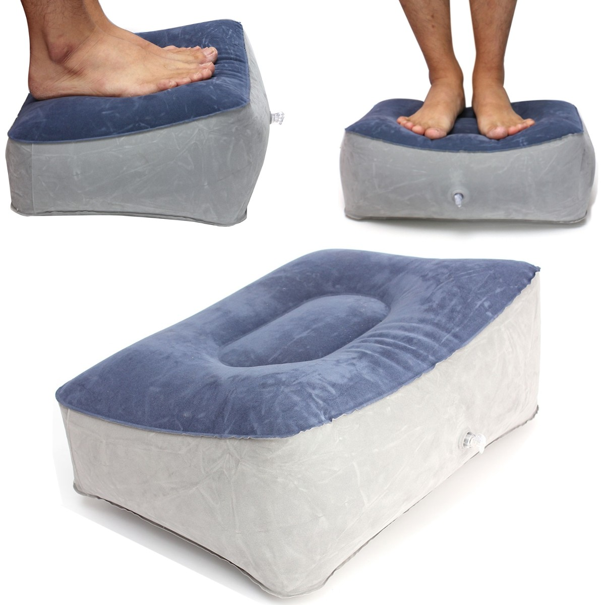 Inflatable Foot Rest Pillow Cushiontravel Home Help Reduce