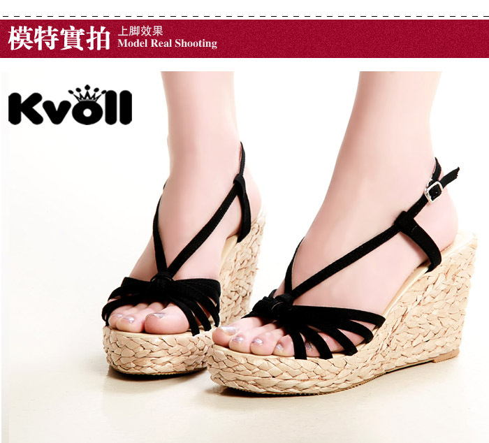 Aliexpress.com : Buy Zonegruppen straw braid wedges sandals ...