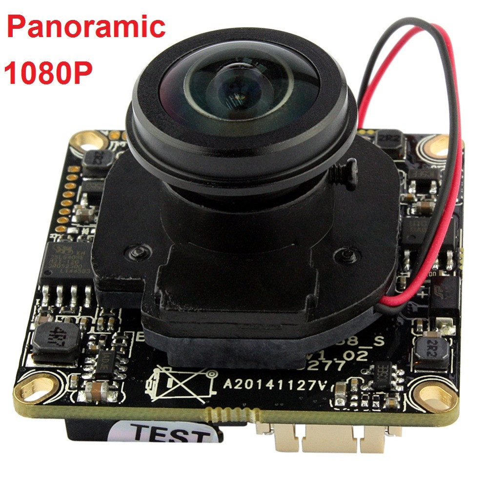 Free shipping 1080P onvif  P2P mini IP camera module main board 2MP full hd wide angle 5mp panoramic lens CCTV Security Webcam panoramic hd 2mp megapixel 1080p ip network 180degree fish eye lens wide angle onvif p2p camera