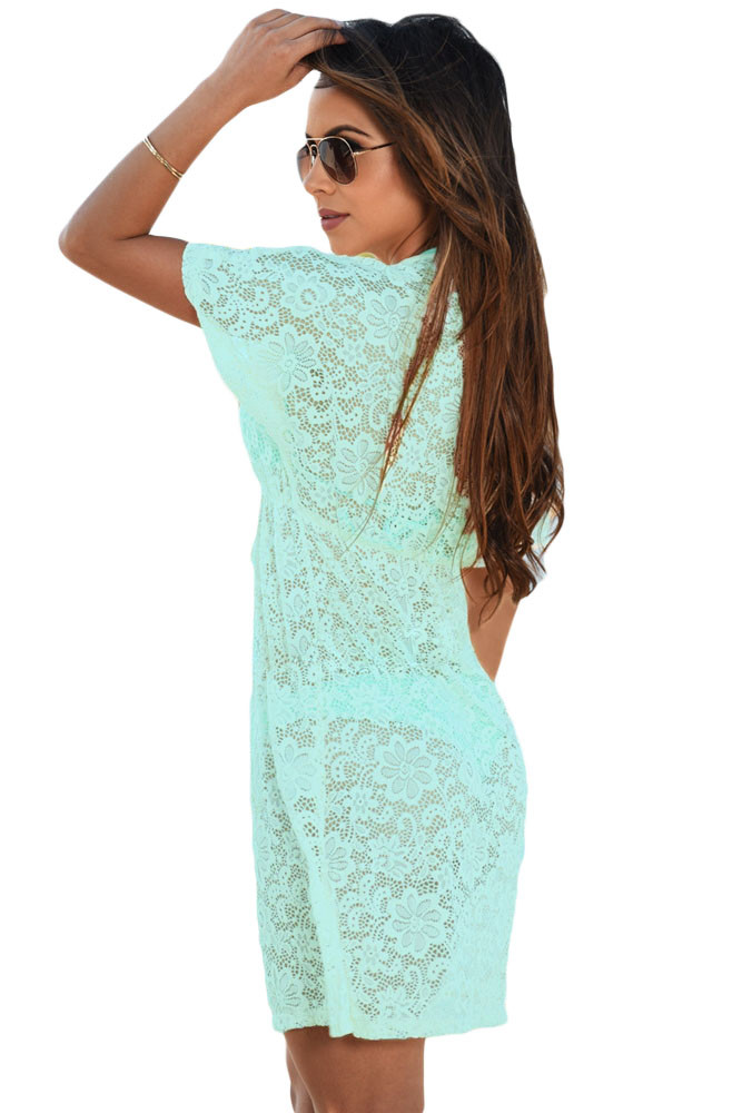 Bluish-Green-See-through-Lace-Cover-Up-Dress-LC42054-9-2