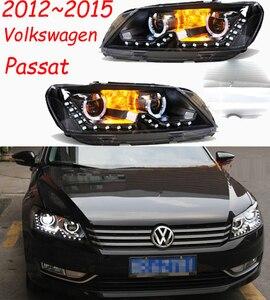 Image 5 - 2pcs dynamic VideoCar Styling for Passat B7 Headlights 2011 2012 2015 America Passat CC LED Headlight DRL Bi Xenon Lens