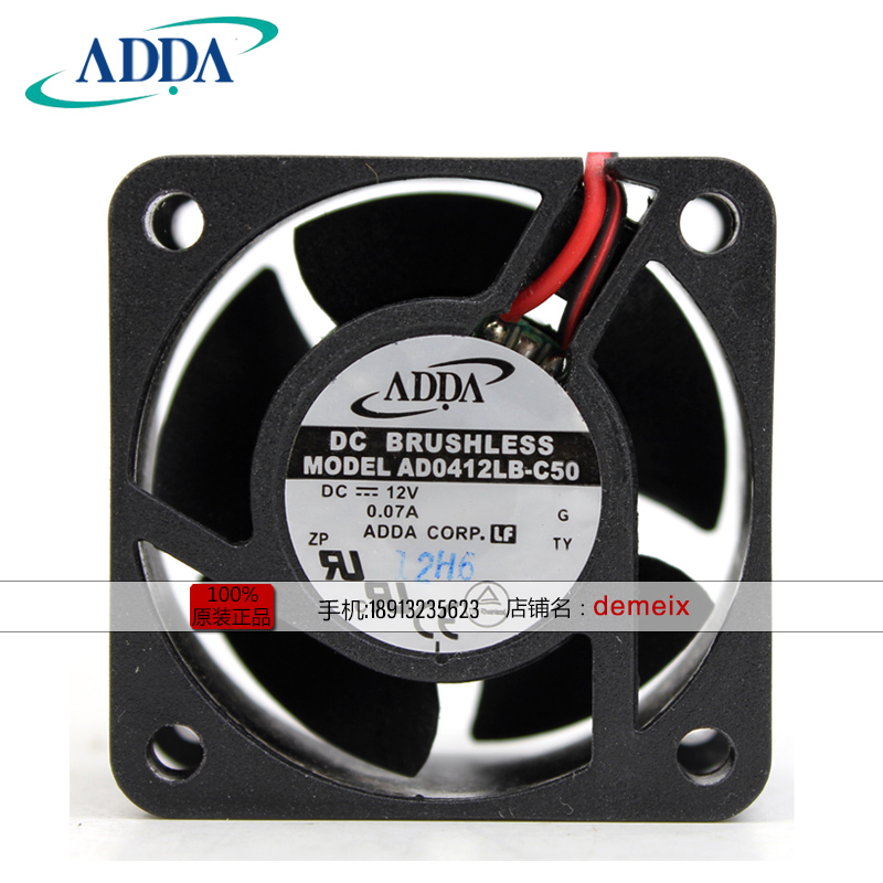 Wholesale FOR ADDA AD0412LB-C52 4020 DC12V 0.11A dual ball bearing cooling fan
