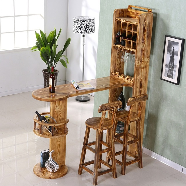 living room mini bar farmhouse ideas home wine wood household off the cabinet tables and chairs can be customized