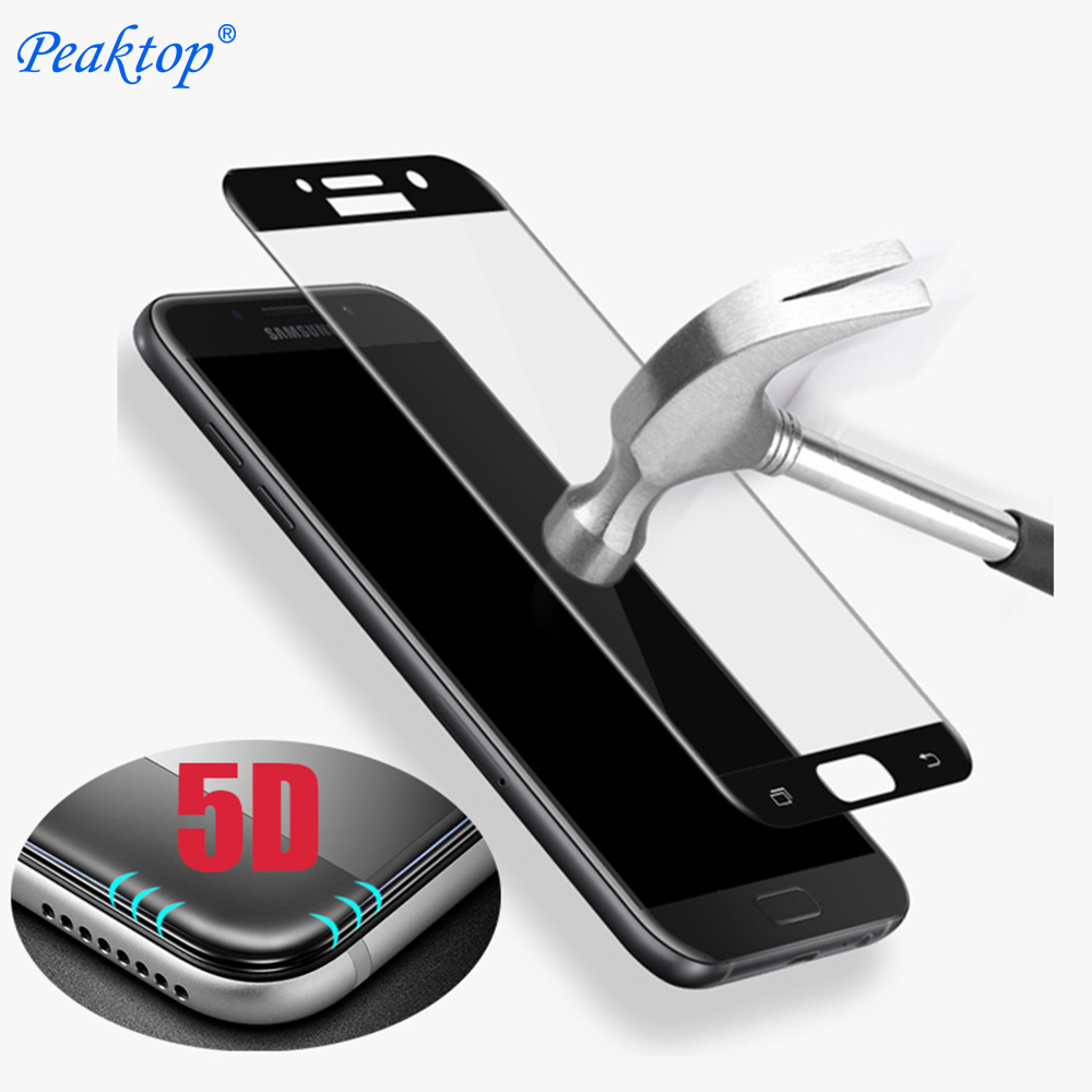 5D Curved Edge Tempered Glass For <font><b>Samsung</b></font> Galaxy j5 j3 j7 Prime Plus Max C8 A5 <font><b>A3</b></font> A7 2017 <font><b>Screen</b></font> <font><b>Protector</b></font> 3D 4D Upgrade Film image