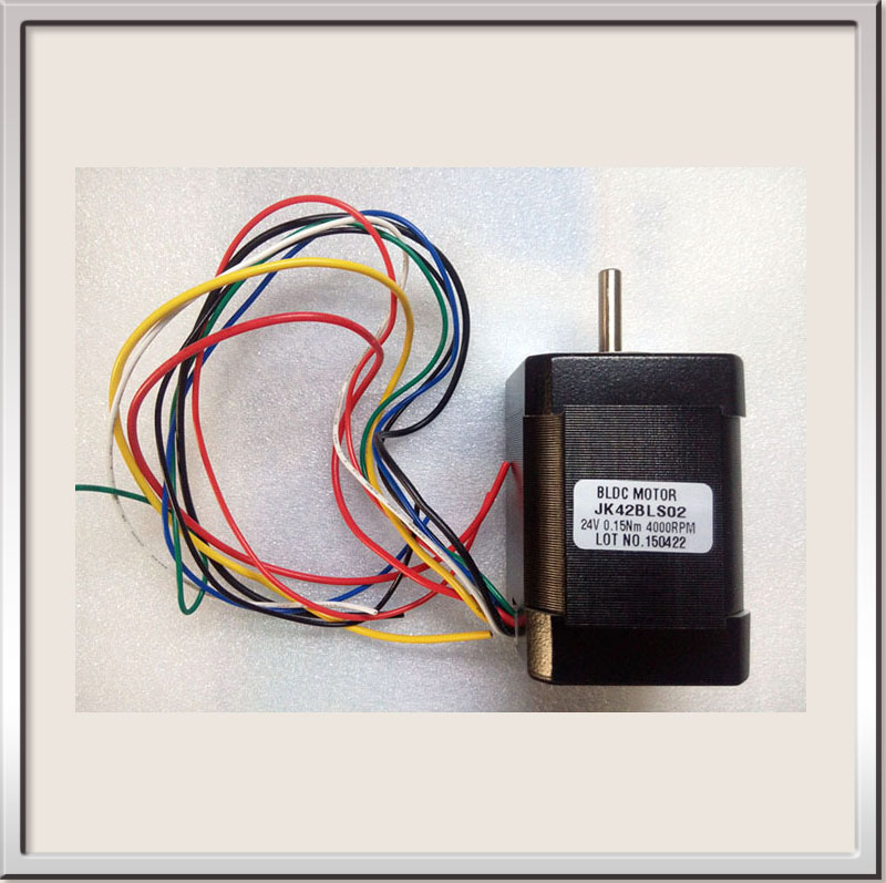 Free shipping CE ROHS 24V 42mm Brushless DC Motor Square Brushless dc motor with Hall / Low Noise 4000rpm BLDC Motor 42BLS02 free shipping bldc drive controller for brushless dc motor