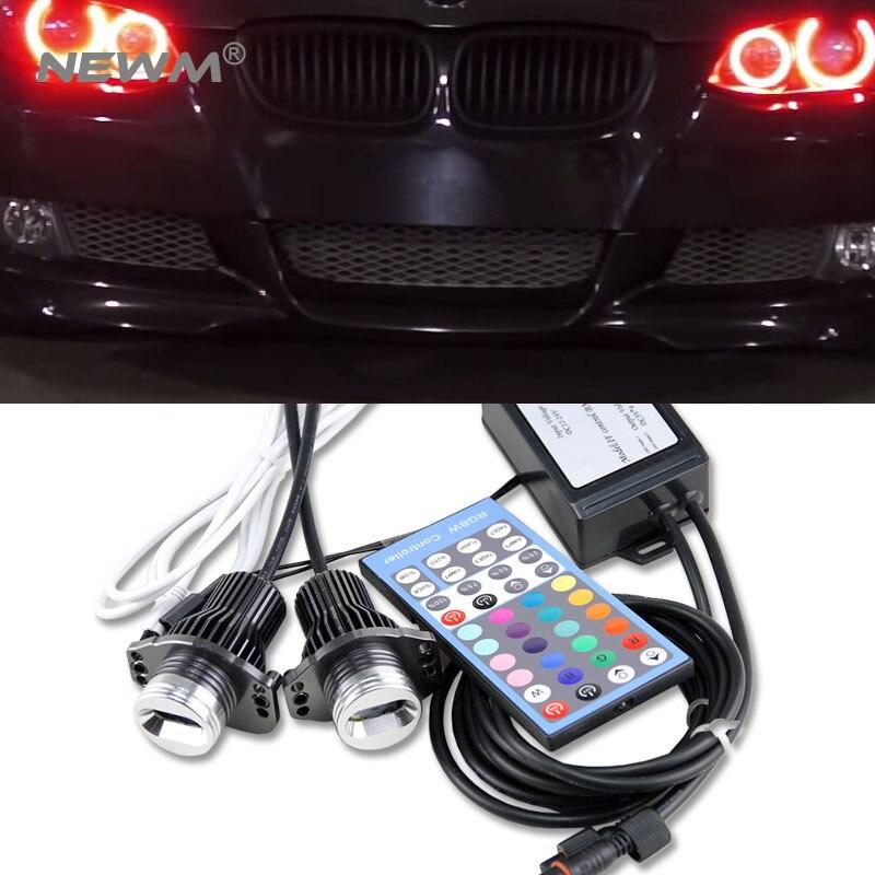 ИК Управление RGBW 2×12 Вт кри фишек Ангельские глазки Маркер СВЕТОДИОДНЫЙ свет фар для BMW 06-08 E90 E91 предварительно подтяжку лица