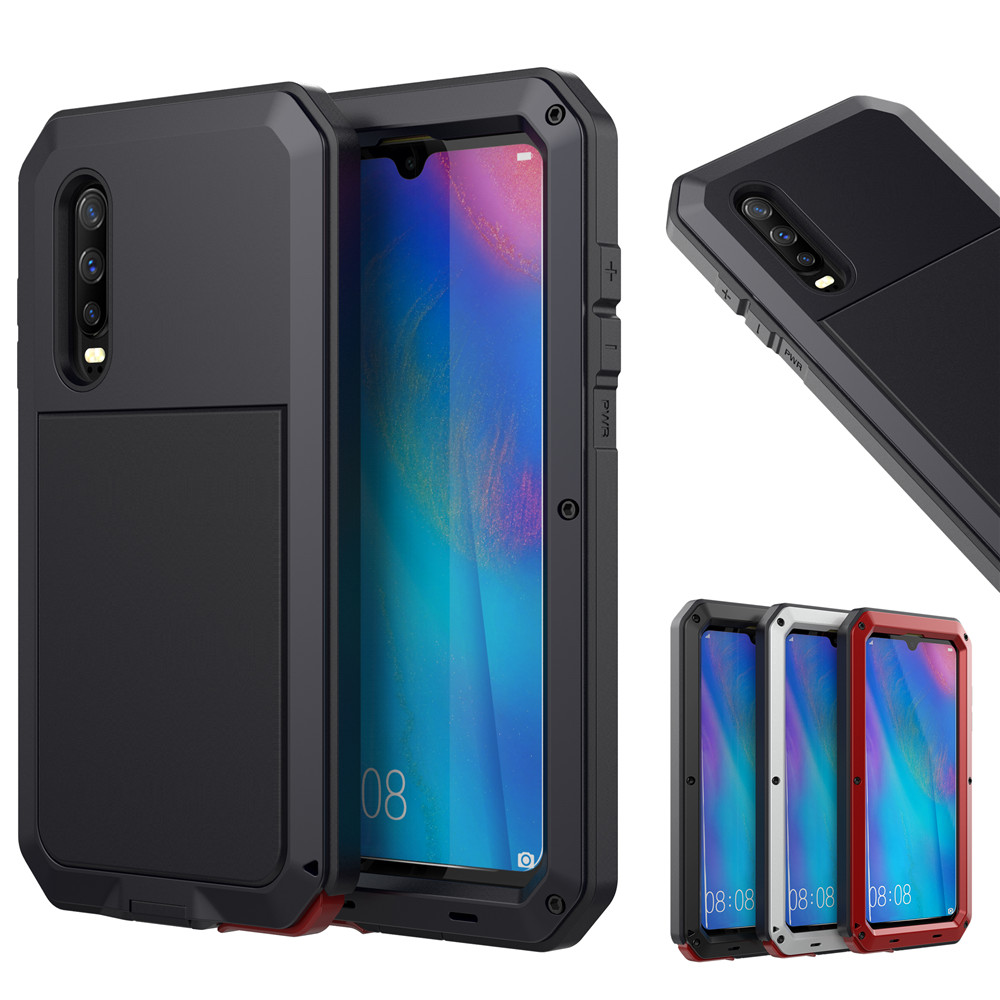 Full Protective Luxury Doom Armor Heavy Duty For Huawei P30 For Huawei P30pro P30 Pro Metal Case Shockproof Cover-in Fitted Cases from Cellphones & Telecommunications