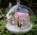 3 шт. Dream House миниатюрный кукольный домик стекло DIY мини домой стеклянный шар рука кукольный дом Со СВЕТОДИОДНЫМИ огнями Оптовая