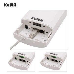 Image 2 - Km gama 3 Kuwfi 300Mbps Wi fi CPE Roteador Sem Fio 2.4G Ponto de Acesso Repetidor Extender Ponte Para Câmera LED exibir Fora