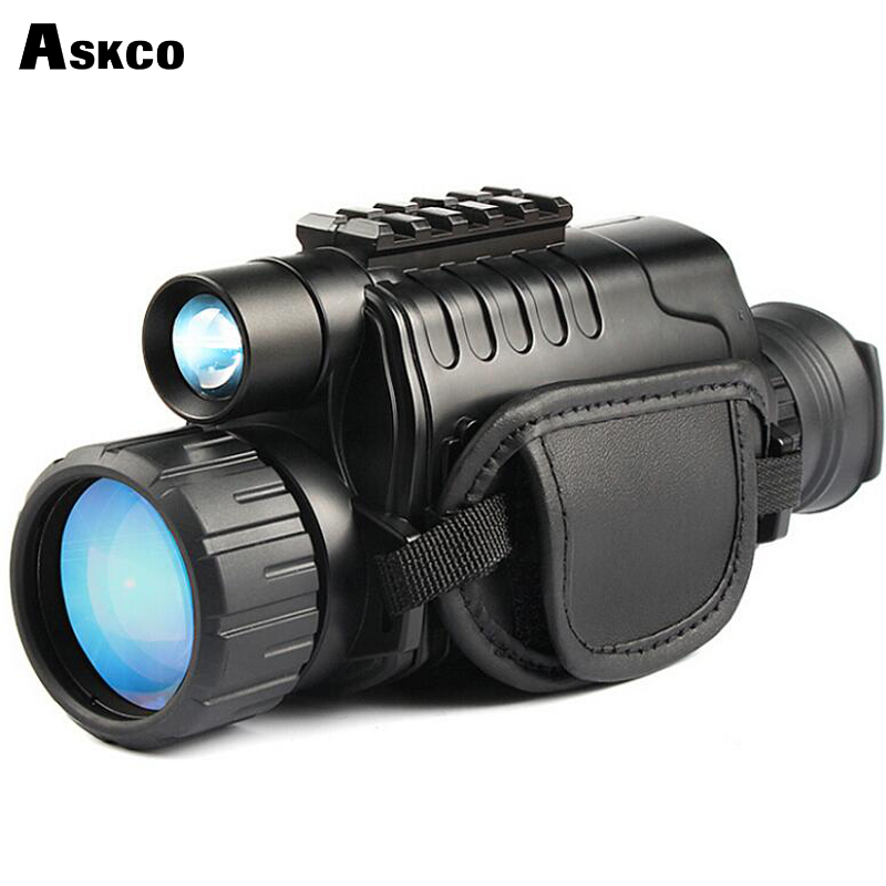 Askco 5X40 digital monocular infrared night vision telescope night vision scope can takes photos video with TFT LCD for hunting new arrival handheld 4 5x40 monocular night vision for hunting for shooting black