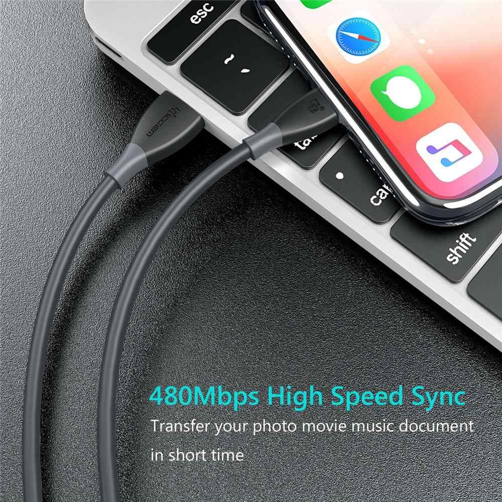 TIEGEM 2A USB كابل الشاحن ل فون X 8 7 6 6 ثانية زائد سريع شحن USB كابل بيانات ل فون 5 5 ثانية SE باد الهاتف المحمول كابل