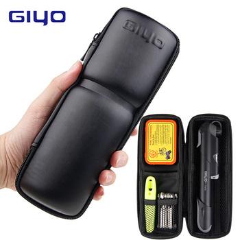GIYO zestawy do naprawiania rowerów torba przenośna jazda na rowerze zestawy narzędzi naprawczych zestawy do naprawy opon narzędzia wielofunkcyjne narzędzia rowerowe tanie i dobre opinie S (21*8 8 Cm) L (23*8 5 Cm) Bag Pump Tire Repair Kit Multi-function Tools Black PT-08 (bag only) PT-09 (tools pack)
