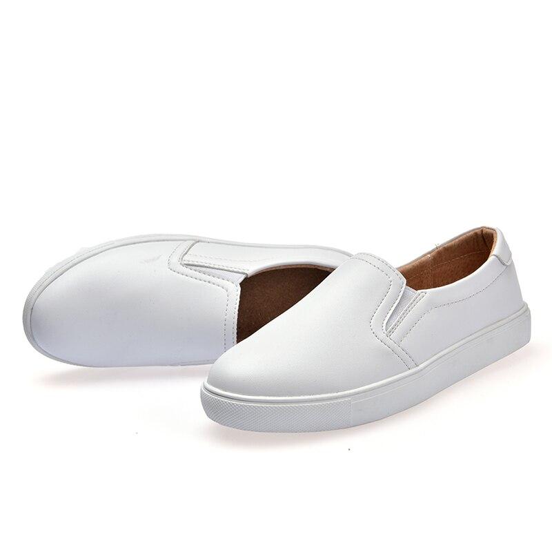 En Cuir Femme Appartements Noir Sur Blanc 2018 Chaussures blanc Ballet Femmes Mode Bateau Slip Mocassins Beautyfeet Noir De Ruban O8SwEqxtt