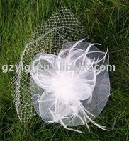 Groothandel TOVENAAR, dansen, rassen, bruiloften, Feestmuts kostuum Witte bloem haar Hoed H21