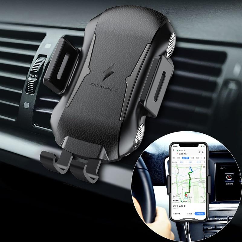 Support de chargeur de voiture sans fil pour Huawei P30 Pro Samsung S10 Plus iPhone X Xs Max support de prise d'air de charge rapide Qi