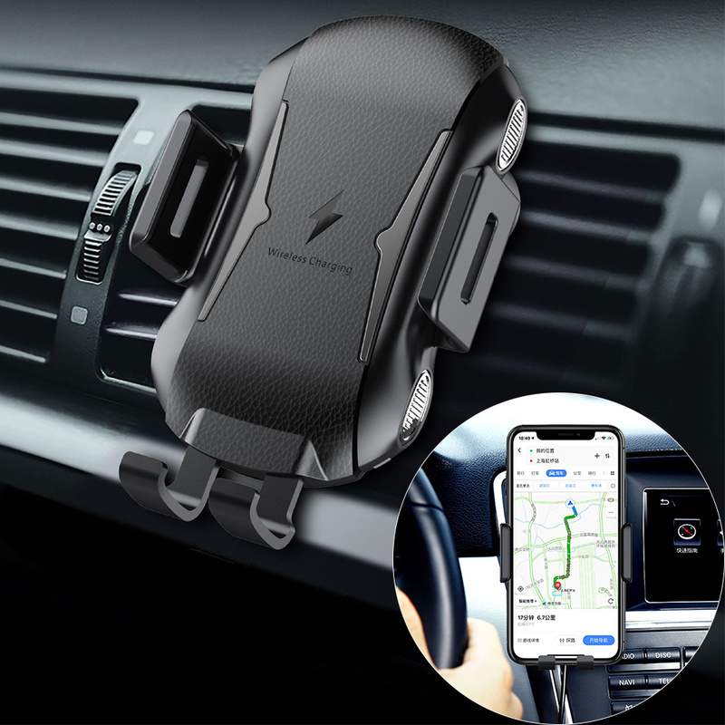 Wireless Car Charger Mount for Huawei P30 Pro Samsung S10 Plus iPhone X Xs Max Auto Clamping Qi Fast Charging Air Vent HolderWireless Car Charger Mount for Huawei P30 Pro Samsung S10 Plus iPhone X Xs Max Auto Clamping Qi Fast Charging Air Vent Holder