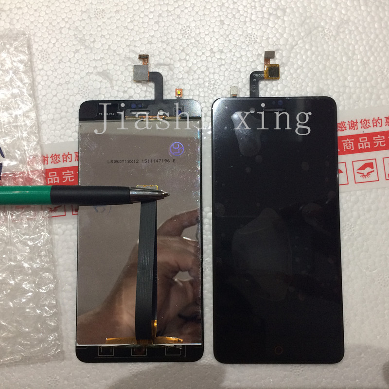 LCD Display+Touch Screen Panel Digitizer Accessories For ZTE Nubia Z11 Mini NX529J 5.0inch Smartphone Free Shipping+Track Number vibe x2 lcd display touch screen panel with frame digitizer accessories for lenovo vibe x2 smartphone white free shipping track