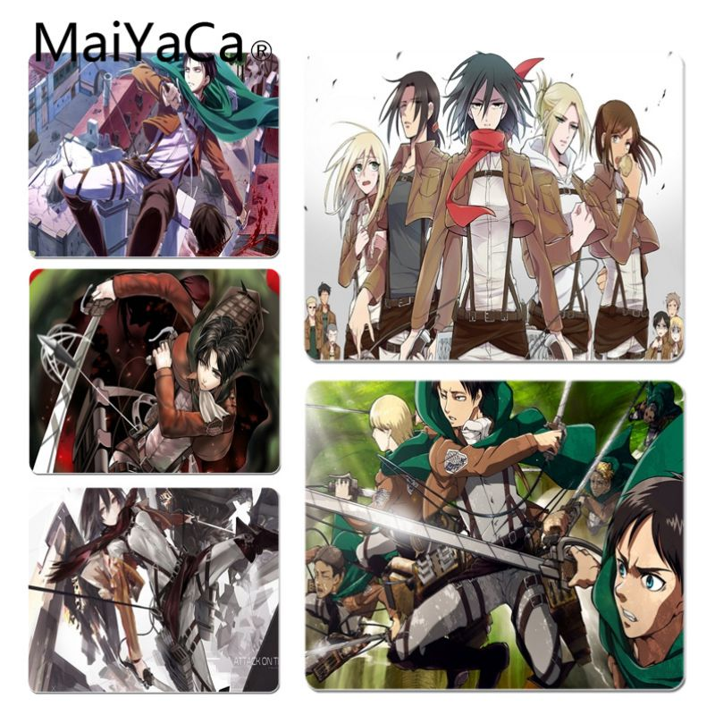 MaiYaCa Hot Sales Anime Attack on Titan Decorative Mouse Pads Size for 18x22cm 20x25cm 25x29cm Game Mouse Pad