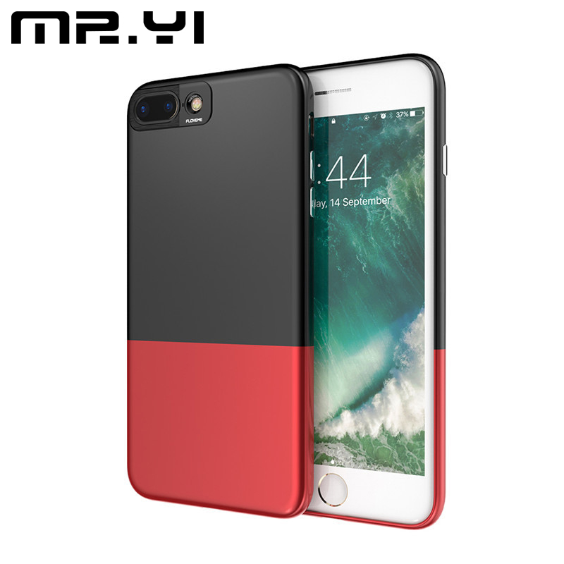 MR.YI Deluxe Hit Color Phone Case For iPhone 6 6S 7 7 Plus PC Hard Slim 2 In 1 Combo Full Protect Cover For iPhone 7 7 Plus