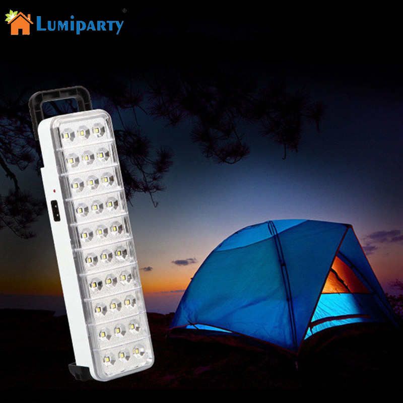 LumiParty Portable Rechargeable 50 LEDs Emergency Light Super Bright Torch Flashlight for Home Outdoor Camping Lightingh