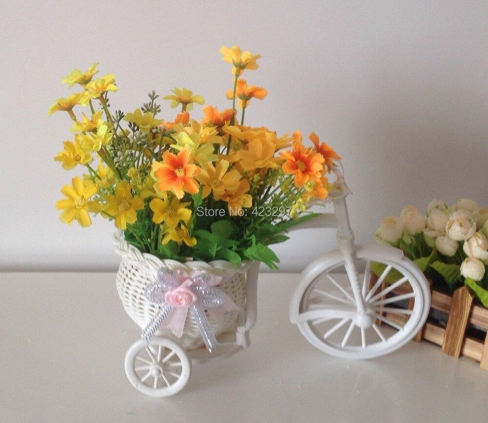 Envo gratis flores artificiales con el plstico conjunto florero