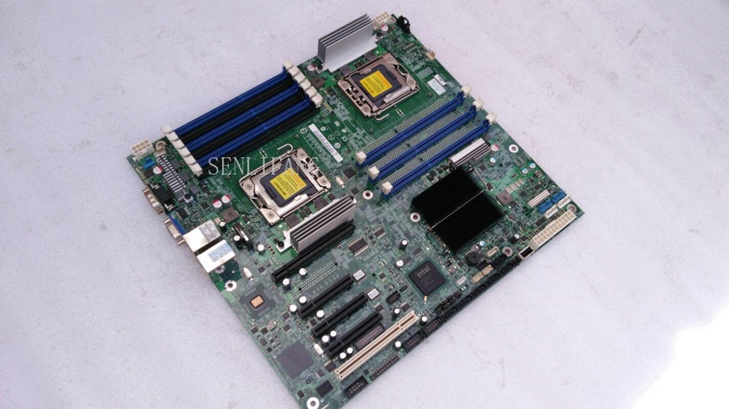 DHL frete grátis S5520HC máquina virtual do jogo aberto dupla X58 dual LGA 1366 pinos da placa de rede do servidor motherboard Um ano garantia