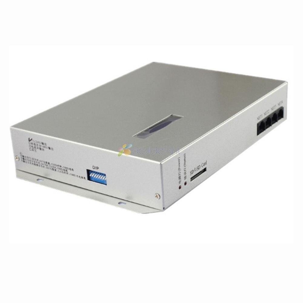 T-300K T300K SD Carte en ligne VIA PC RVB Pleine couleur led pixel module contrôleur 8 ports 8192 pixels ws2811 ws2801 WS2812B Bande