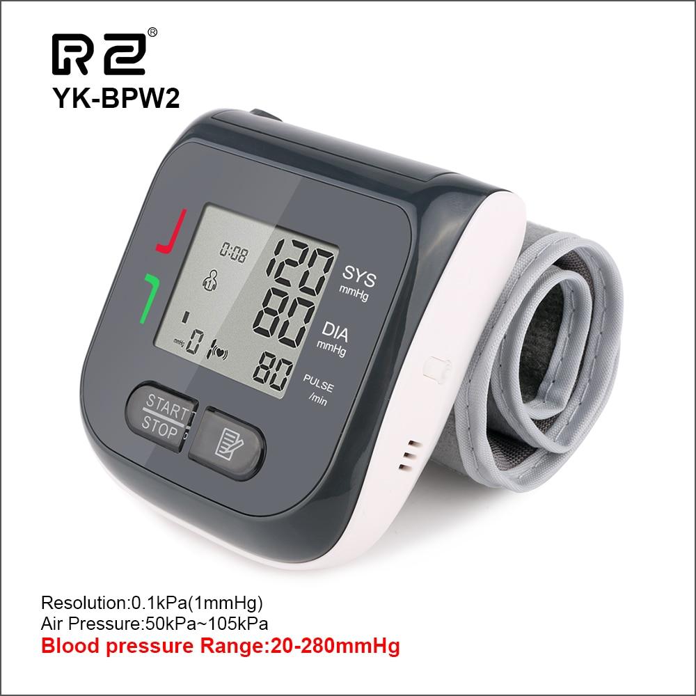 RZ Blut Drücke Automatische Sphygmomanomet Monitor Digitale Tragbare Tonometer Herz Rate Puls Maschine Handgelenk Blutdruck
