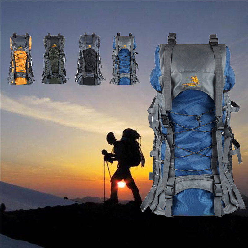 4 Colors 60L Camping Travel  bag Rucksack Waterproof Mountaineering Outdoor Backpack Hiking Bag for outdoor camping and hunting