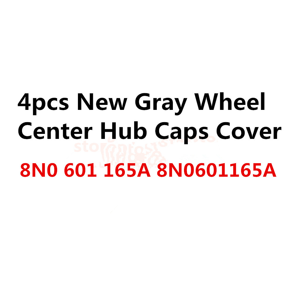 4x OEM 2017 Car Wheel Center Cap Hub Cover Gray ,Fits 8N0601165A, 8N0 601 165 A universal for more car 3pcs oem black piano paint chrome car center console air condition vents for passat b6 b7 cc r36 3ad 819 701 a 3ad 819 702 a