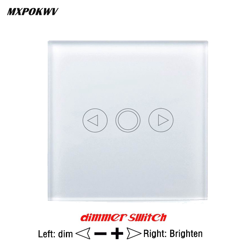 EU/UK Standard Touch Dimmer Switch, Waterproof Crystal Touch Glass Pane Wall Switch, LED Dimmer Switch Smart Automation Module