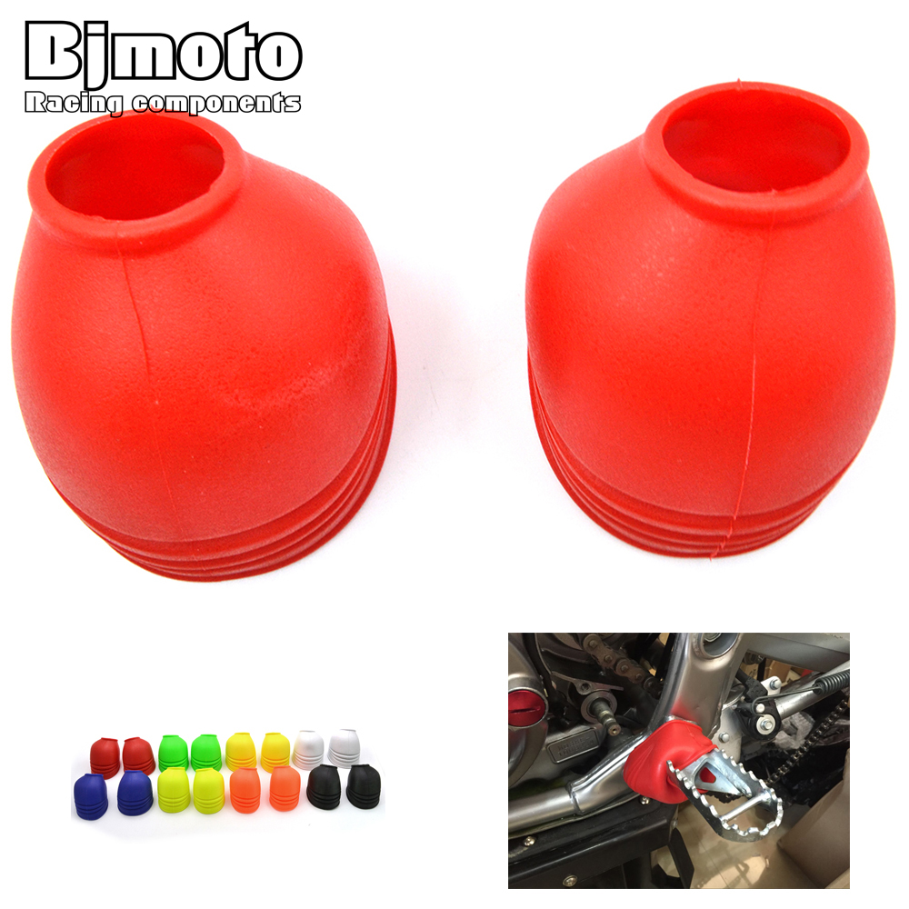 Universal PVC Motorcycle Foot Peg Cover motocross Footpeg Dust-proof Protector For Harley Yamaha Honda Off Road bike Dirt Bike yuneec q500 gimbal camera protector 3d printed camera cover dust proof cover