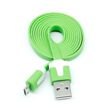 Top Quality Micro USB Port 1m colorful flat noodle universal usb sync charger data cable for Android phones for HTC for Lenovo