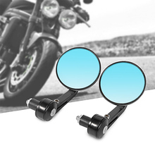 RACBOX 1Pair  7/8 22mm Aluminium Motorcycle Round RearView Handle Bar End Side Mirrors retroviseur moto guidon mirrors