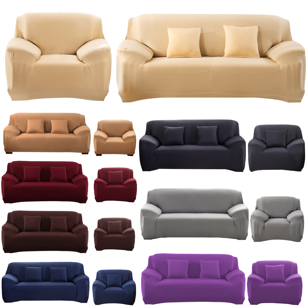 Modern Pure Color Fashion Sofa Covers Home Indoor Decorative Sofa Cover  Stretchable Sofa Cushion Washable Sofa