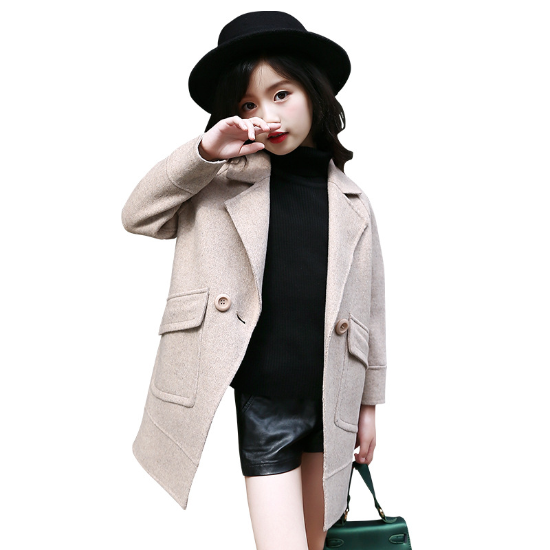 2018 New Winter Girls Jacket Children Clothing Fashion Kids Windproof Autumn Warm Girls Long Outerwear Coat 5 7 9 11 13 Years 2018 children down jacket girls winter long section kids clothing thick coat 30 degree warm outerwear for 7 9 10 11 13 years