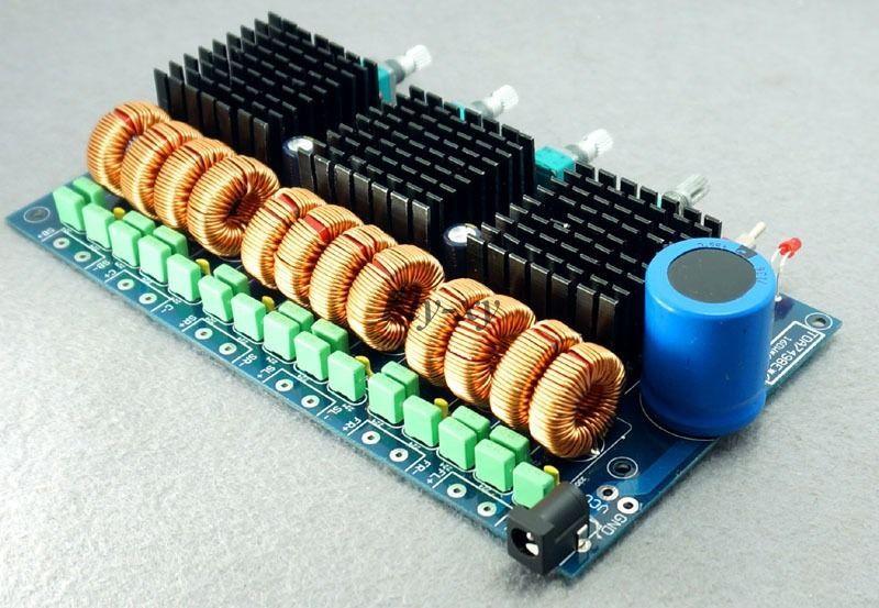 New 6 channel 18--30V TDA7498E x3  5.1 100W X 6 Class D Audio Amplifier Board
