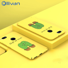 Фотография For Xiaomi A1 Case Cover Luxury Cartoon Letter PC Phone Cases For XiaoMI MI A1  5X 64gb Matte Ultra-thin Coque MIA1 MI5X Fundas
