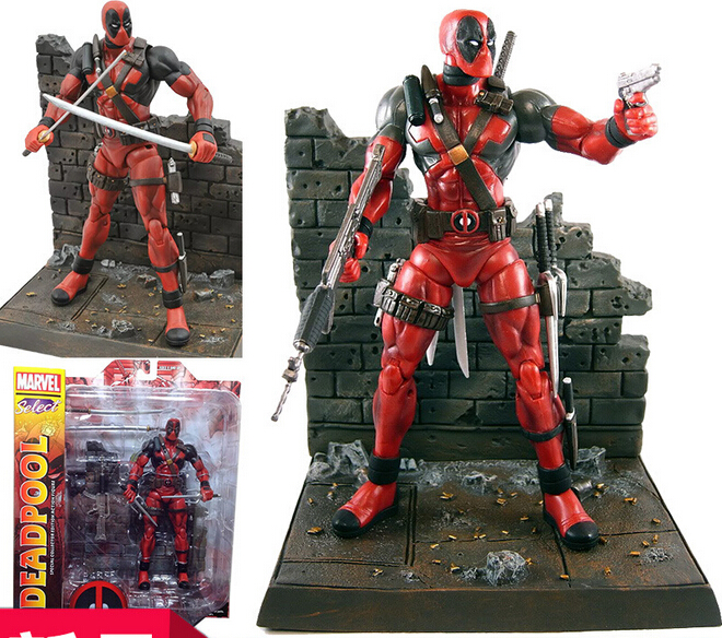 7 18cm New Hot Super Hero X-Men Deadpool Action Figure Toys Collection Mobile Toy Doll Christmas Gift For Kids free shipping super big size 12 super mario with star action figure display collection model toy