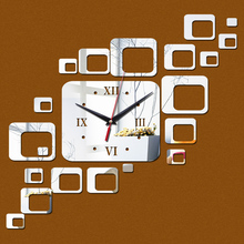 2015 new hot sale wall clock clocks home living room quartz acrylic modern decoration watch 3d stickers diy mirror free shipping free shipping hot sale modern detachable acrylic podium church logo customize